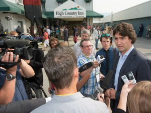 Future Prime Minister Justin Trudeau visited the Coast High Country Inn during the Assembly of First Nations July 2013
