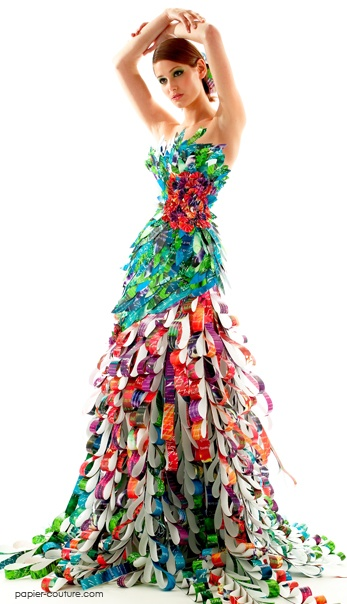 paper dress by Lia Griffith