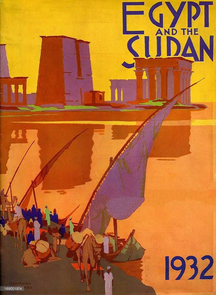 A tourism brochure for Egypt and Sudan by Norman Howard reads 'Egypt and the Sudan, 1932