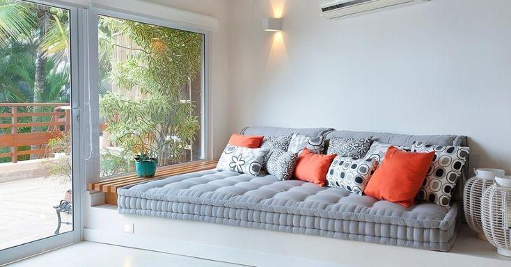 Aposte no futon para uma decoração descontraída e versátil