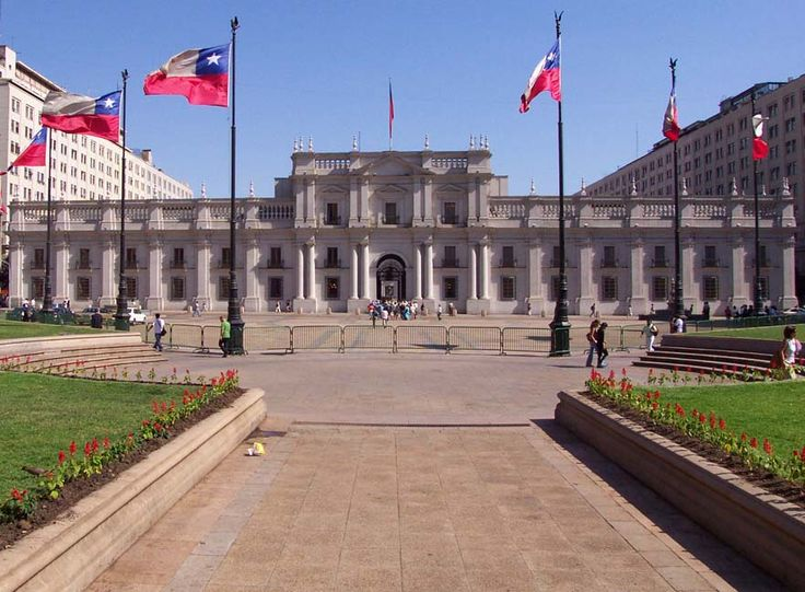 The La Moneda Palace, is located in Chile, and is the seat of the president of the Republic of Chile. The architecture was designed by Joaquin Toesca, and it was constructed in 1784.