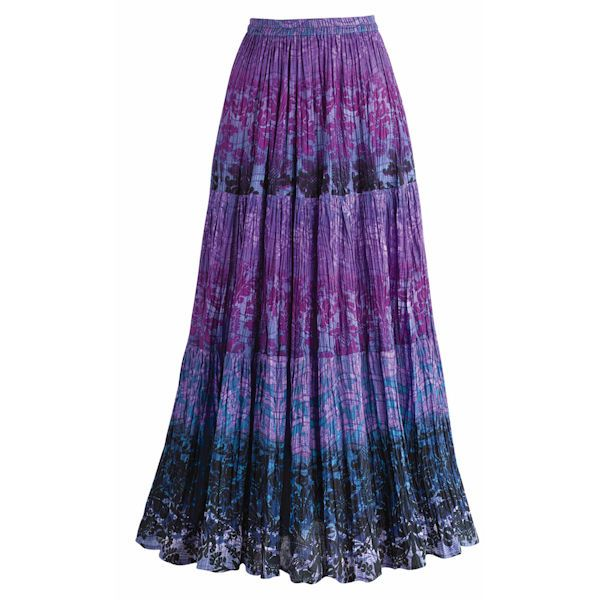 Tiers Of Plum Long Skirt