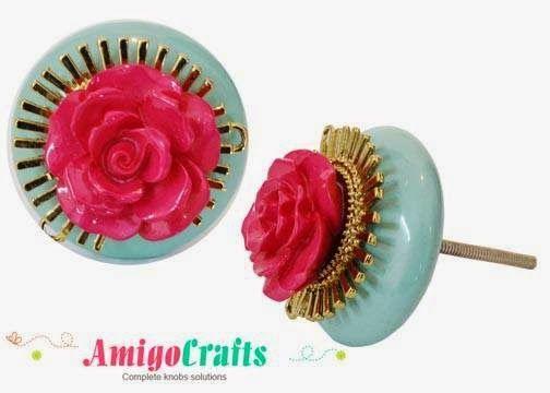 AmigoCrafts: Jeweled Knob - master piece in itself, decorate yo...