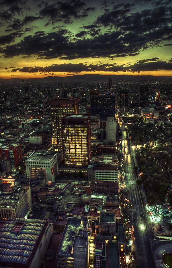 Mexico City, the biggest city in the world.