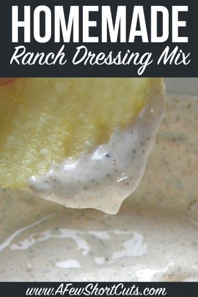 Never buy store-bought dressing again! Try this Homemade Ranch Dressing mix recipe. Use it for seasoning, dips, and dressing. Plus can be made dairy free!