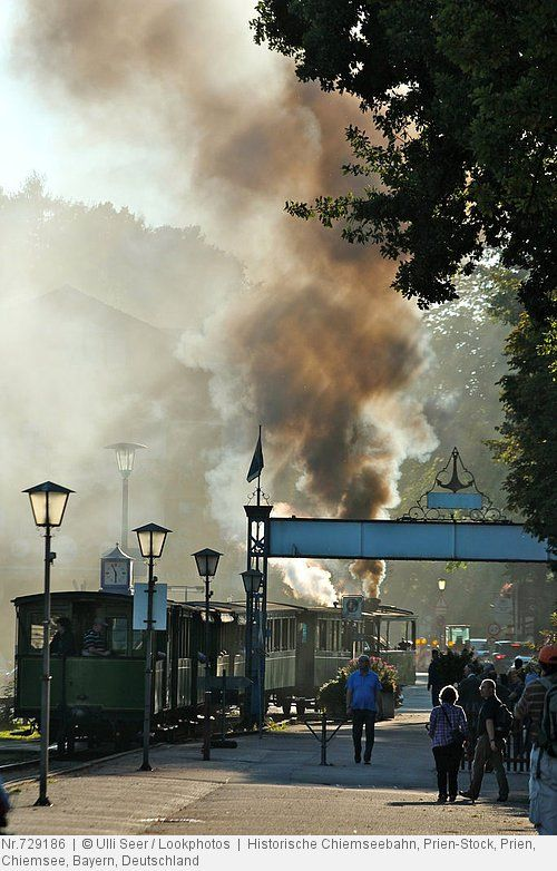Historische Chiemseebahn, Prien-Stock, Prien, Chiemsee, Bayern, Deutschland