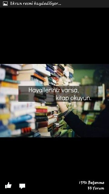 Kitap okumak huzurdur..☺