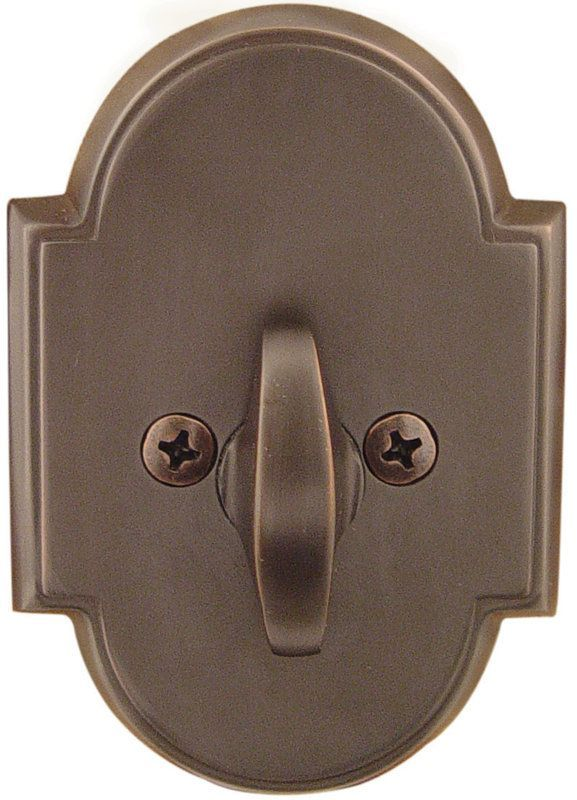 Emtek 8566 Style Brass Modern One Sided Deadbolt Oil Rubbed Bronze Deadbolt One  Sided