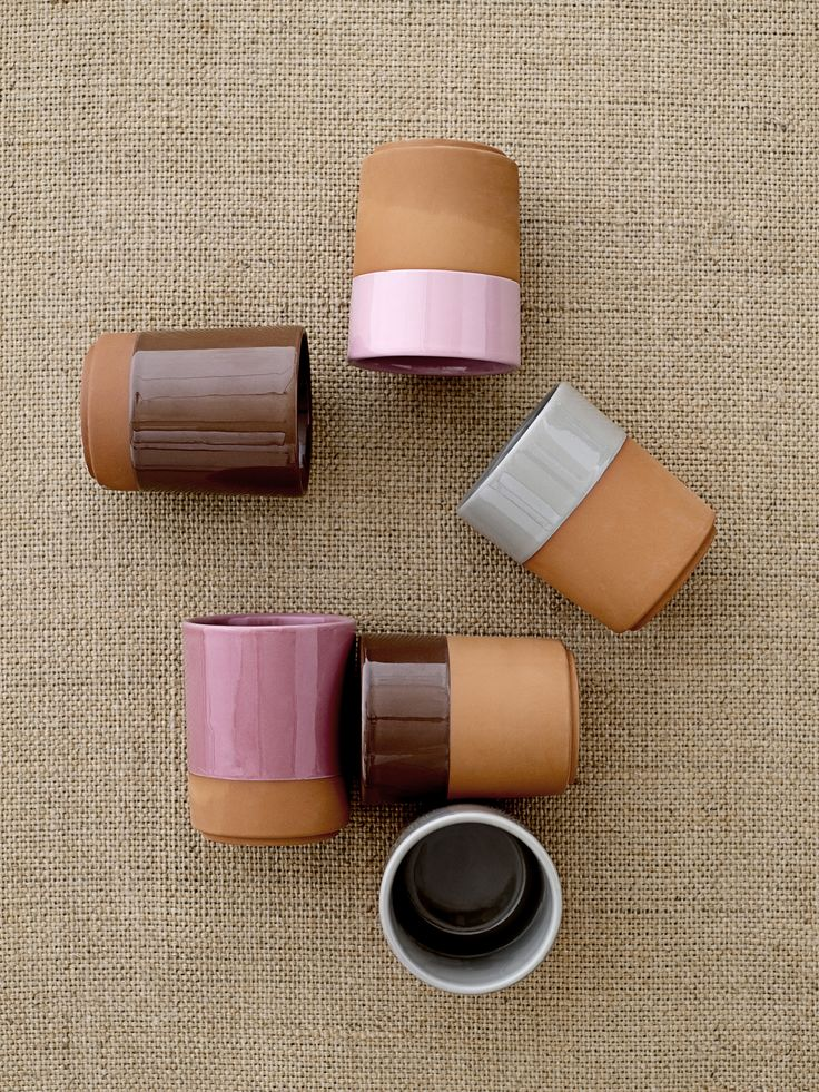 Terracotta is back! Mugs designed by Bloomingville.