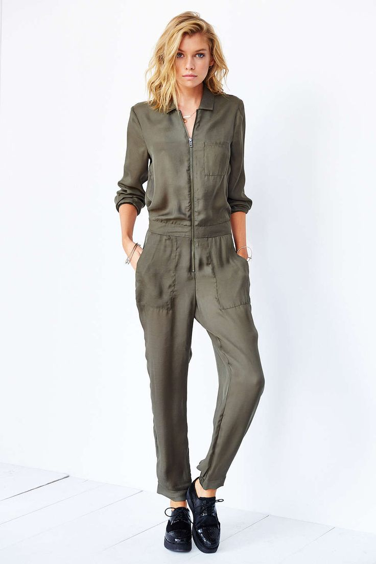 Silence + Noise Silky Flight Jumpsuit
