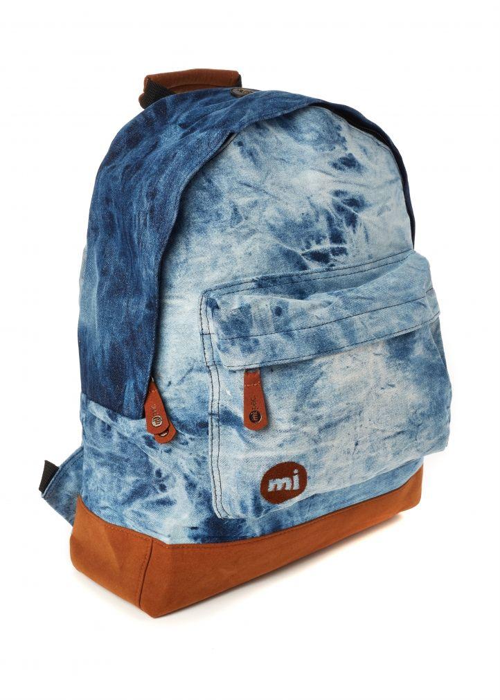 Mi-Pac Backpack in Tie Dye Denim Front