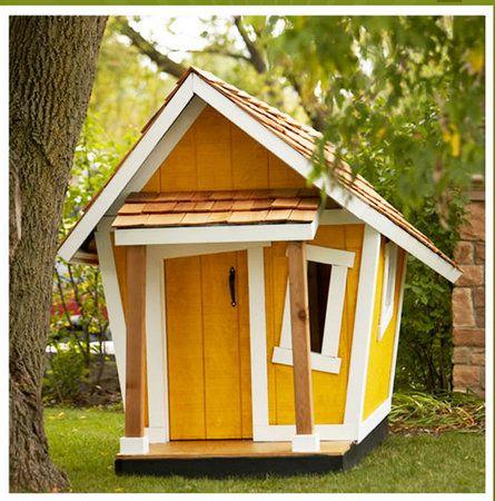 Cabane de jardin jaune