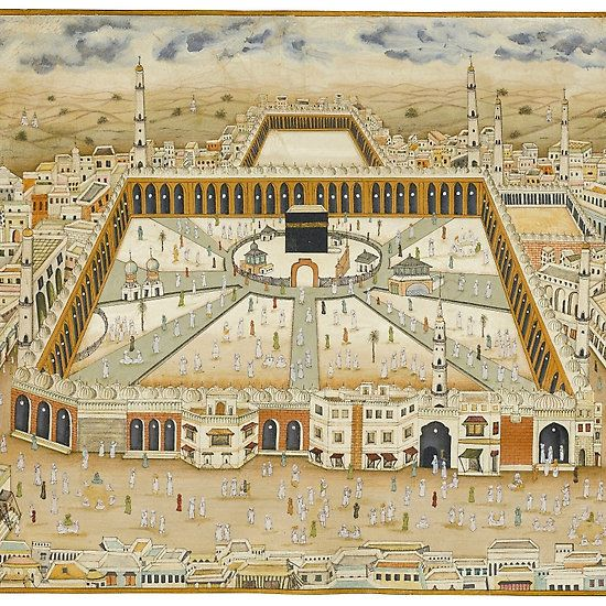 A large view of Mecca, India