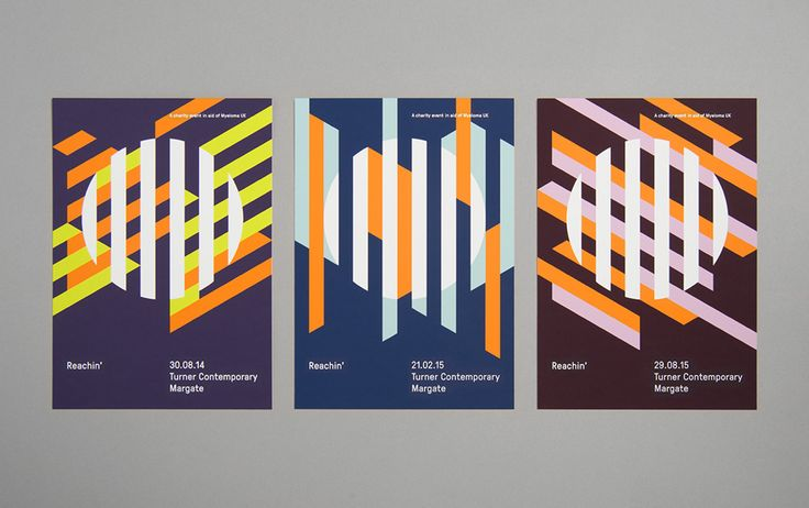 Posters design by Karoshi for Myeloma charity event Reachin'