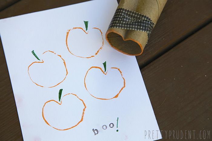DIY Toilet Paper Roll Pumpkin Stamps! by Pretty Prudent