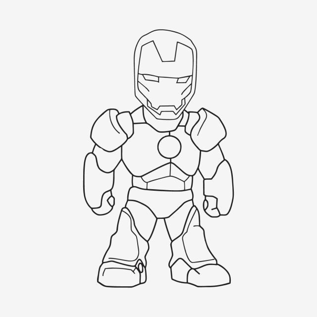 Pin On Iron Man Drawing