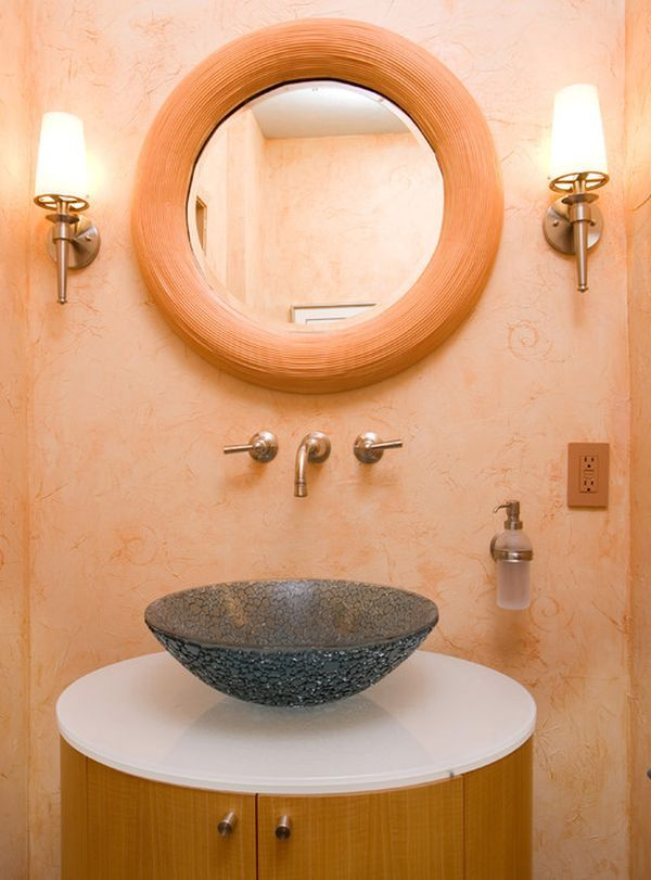 Best 25 peach bathroom ideas on pinterest peach paint Peach bathroom