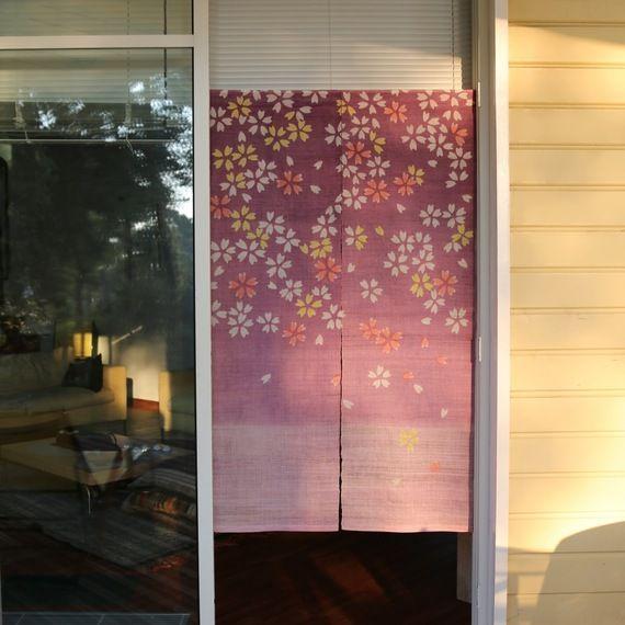 Le noren- Rideaux japonais sakura