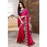 moiaa-pink-and-red-shaded-border-saree-with-blouse
