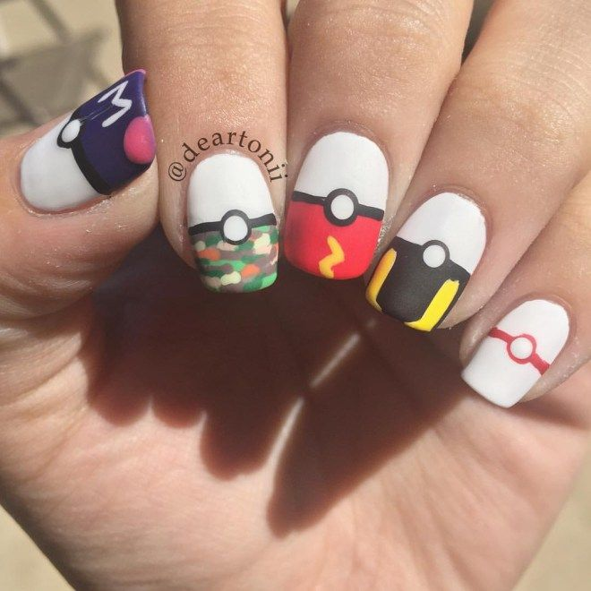 112 best nail art pokemon images on pinterest nail art ideas its the latest gaming trend to hit us and seeing as were all playing pokemon go we think its about time we brought you pokemon nail designs prinsesfo Gallery
