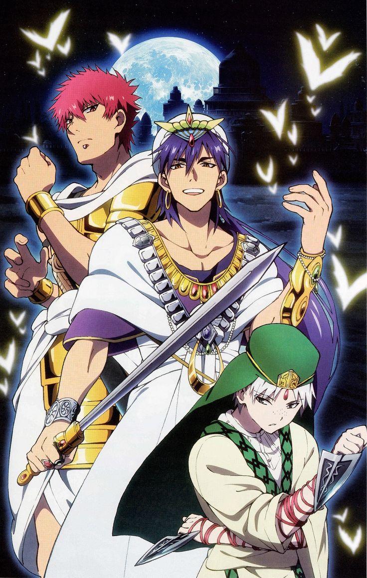 Sinbad, Jafar e Masrur Magi The Labirint of Magic