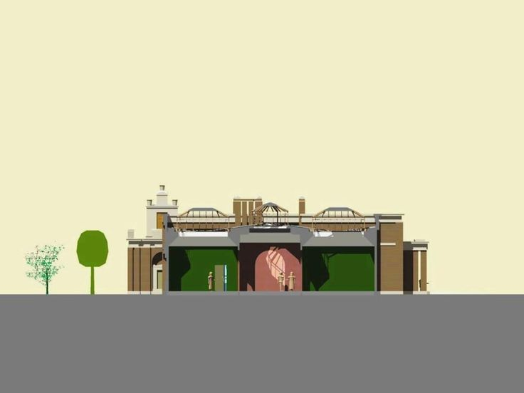 Dulwich Gallery cross-section (gallery) | Pearltrees