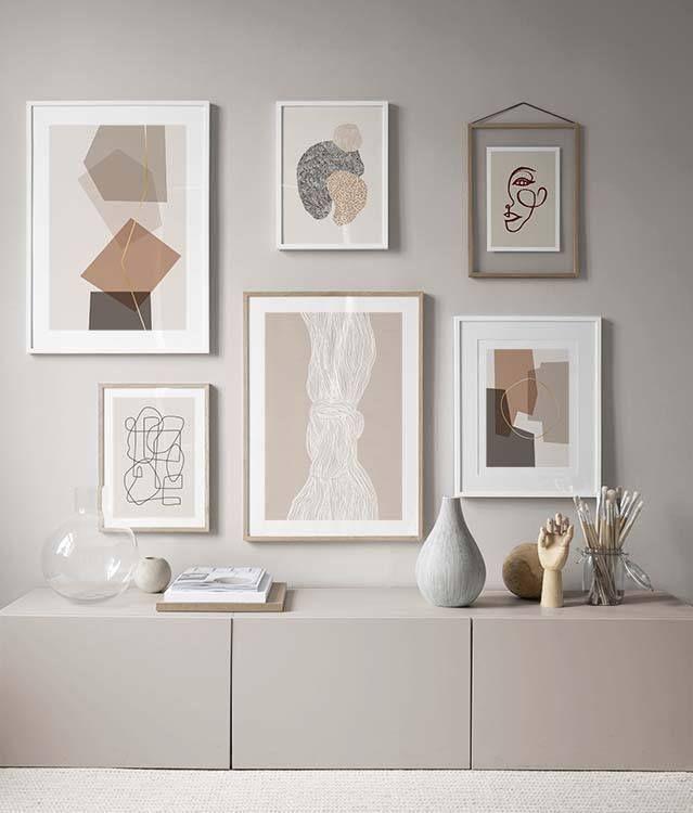 Woonkamer Met Witte Tvkast En Groene Muur Decoratie Woonkamer Ontwerp Huis Interieur Interieur Woonkamer