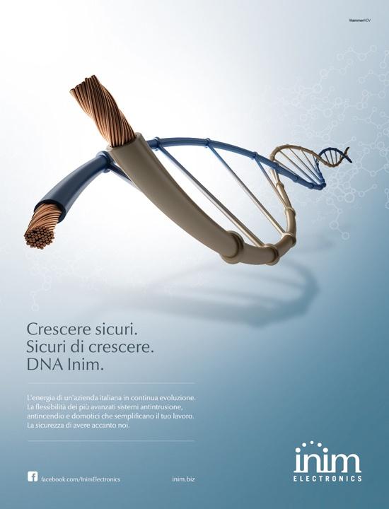 Campagna Inim Electronics per la fiera Sicurezza a Milano. Innovare e crescere: una questione di geni.