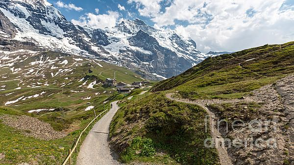 Kleine Scheidegg Switzerland. #Kleine #Scheidegg #Switzerland #landscape #canvas #print #photography #snow