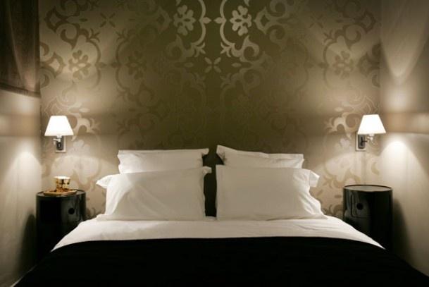 Slaapkamer behang.