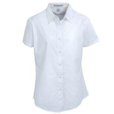 Port Authority L508 Women's White Short Sleeve Button-Up Shirt