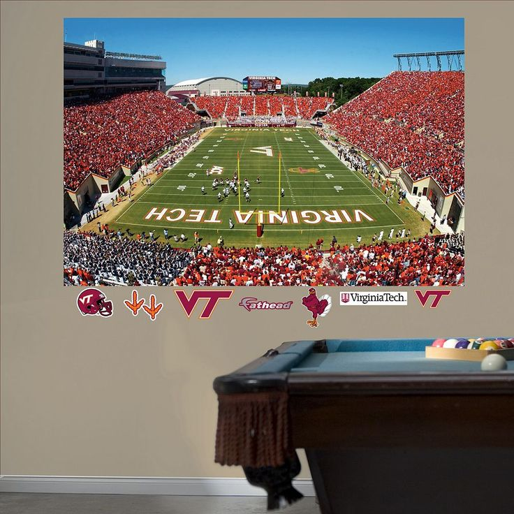 Fathead Virginia Tech Hokies Lane Stadium Wall Decals, Multicolor