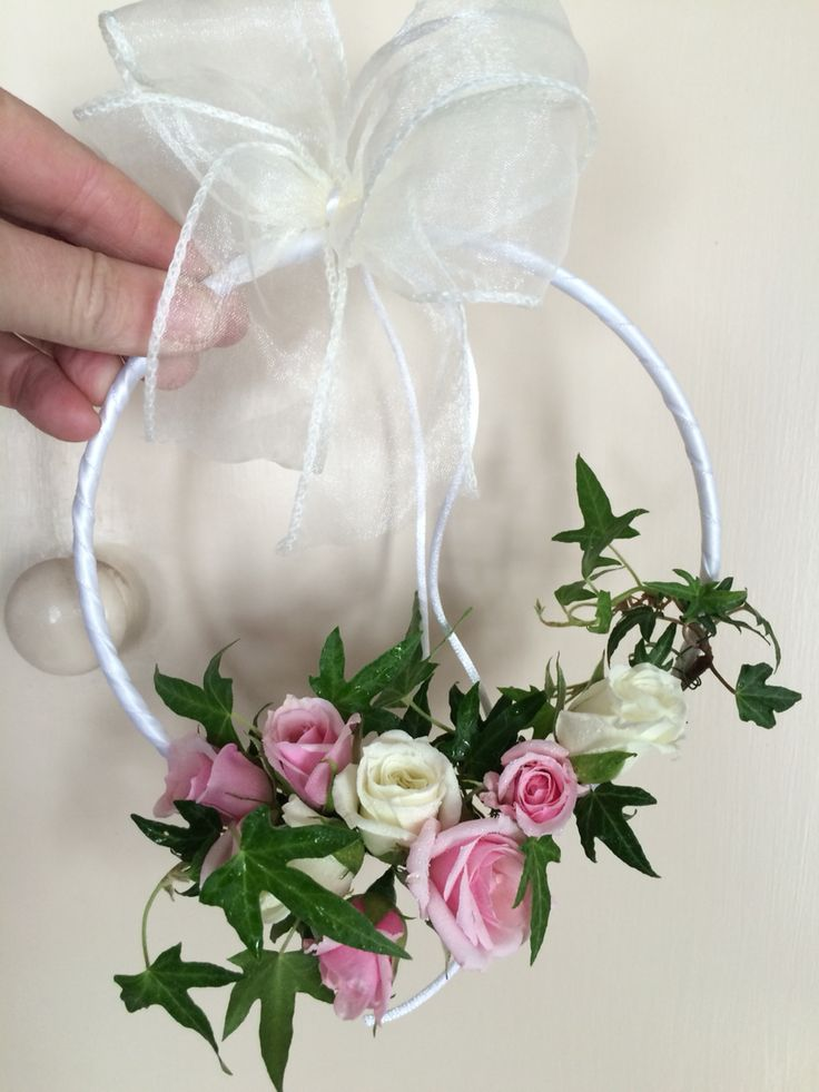 Cute Little Flower Girl Hoop Wedding Wands Flower Girl