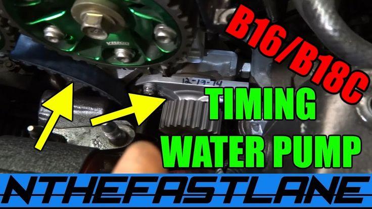 "Timing Belt & Water Pump Replacement Honda B-series ""How To"""