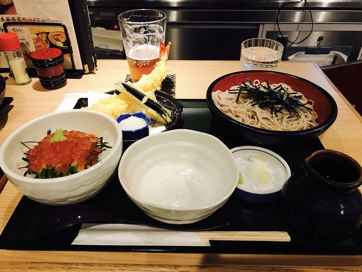 [i ate] Japanese Craft beer soba with salmon roe rice bowl and shrimp and eggplant tempura at towa in Ueno Tokyo http://ift.tt/2fDIihD #TimBeta