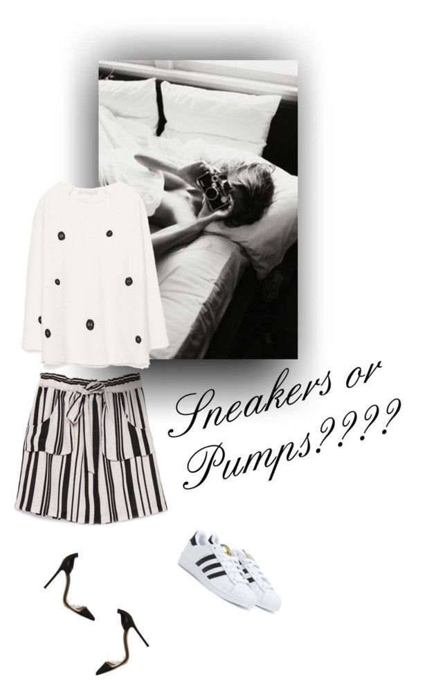"""""""Sneakers or Pumps"""" by mycoolestavatar ❤ liked on Polyvore featuring Zara, Gianvito Rossi, adidas, Pumps and sneakers"""