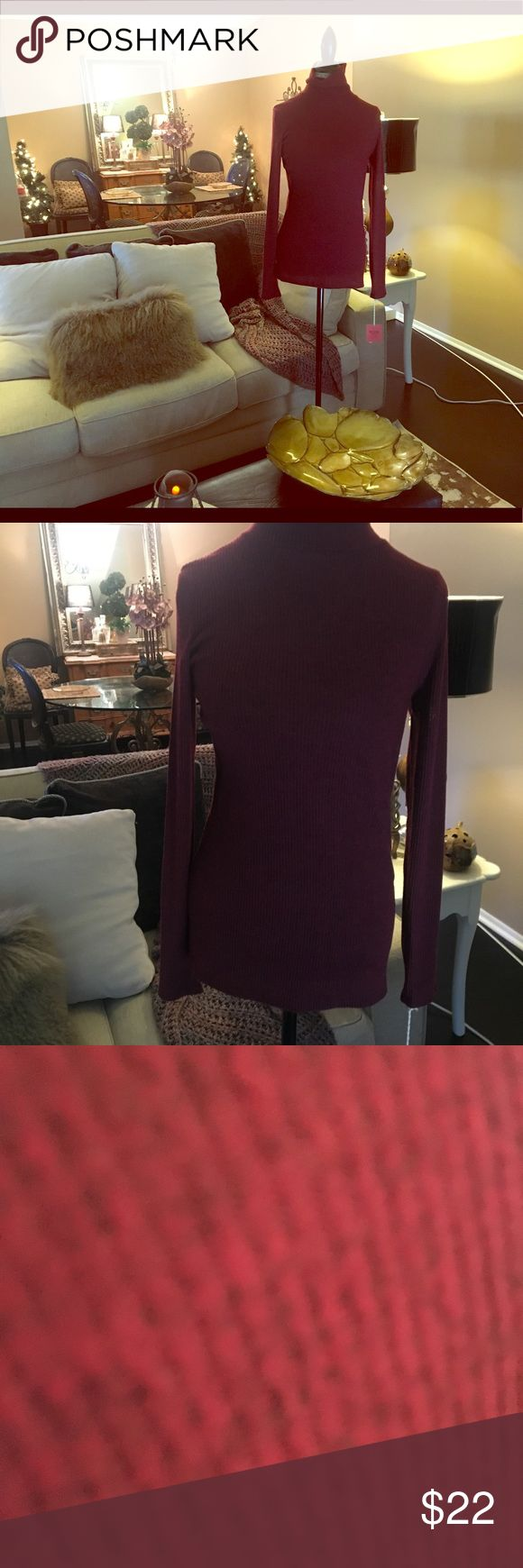 Deep red turtle neck Never worn marbled black and red Mossimo Supply Co Sweaters Cowl & Turtlenecks
