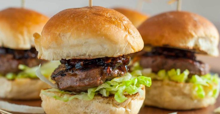 Stout Sliders with Bacon‑Onion Marmalade Recipe Primary Image