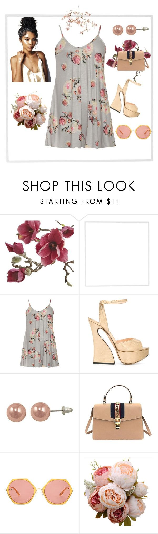 """""""Fresh Summer Style"""" by gigi-sessions on Polyvore featuring Crate and Barrel, Menu, WearAll, Charlotte Olympia, Gucci and Canopy Designs"""