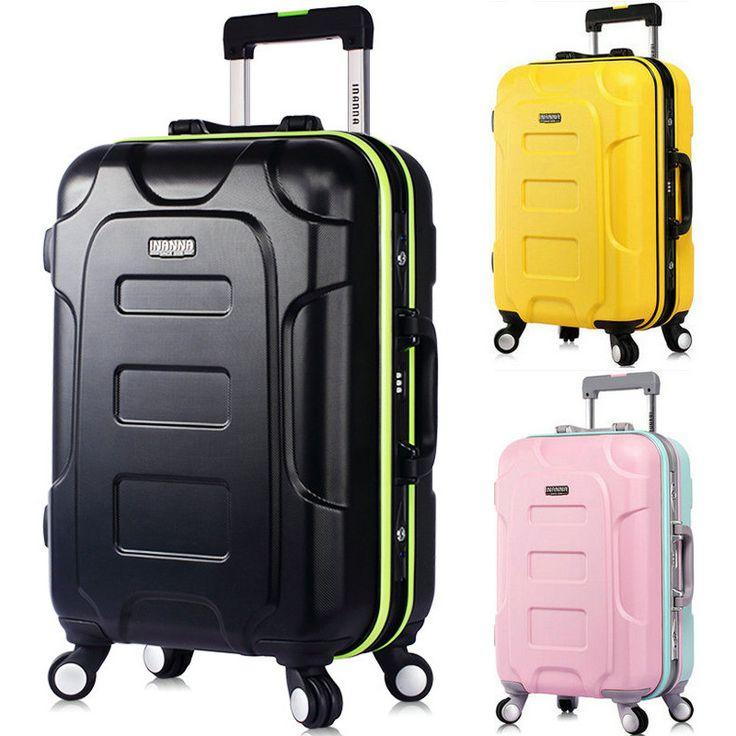 Men and Women Fashion Travel Suitcase Universal Wheels Trolley Luggage Bag Aluminum Frame Luggage 20 24