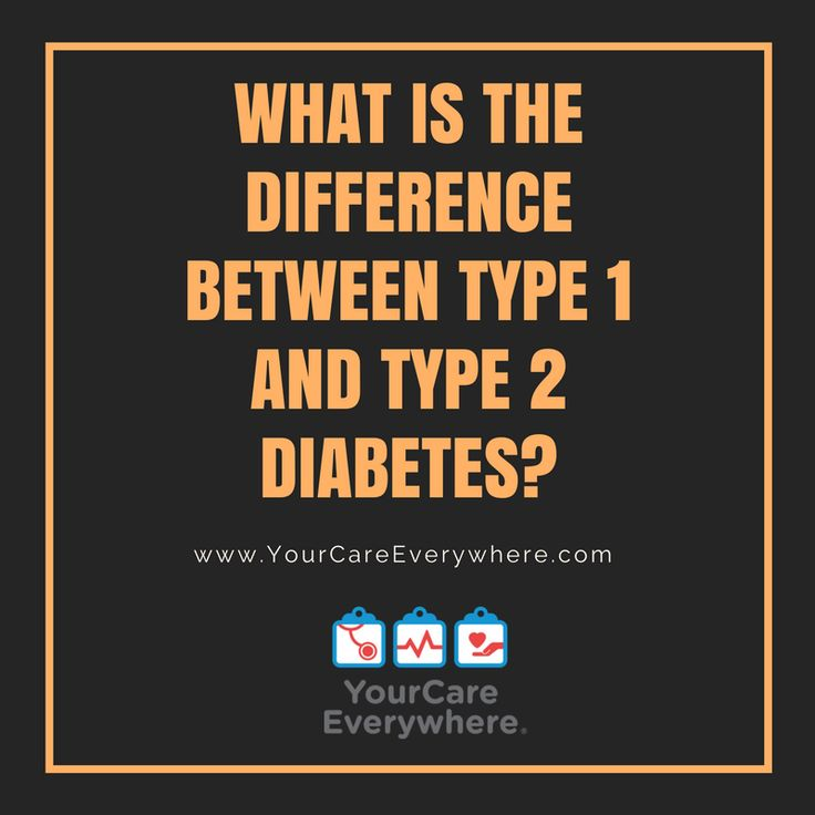 The difference between type 1 and type 2 diabetes can occur on several levels, including age, lifestyle, and body physiology. Learn more.