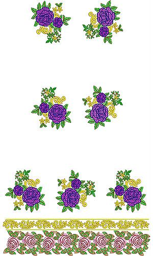Indian Designer Dress Embroidery Design