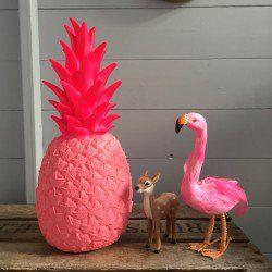 Pina Colada Pineapple Lamp - Hot Pink - Love Frankie desk lamp