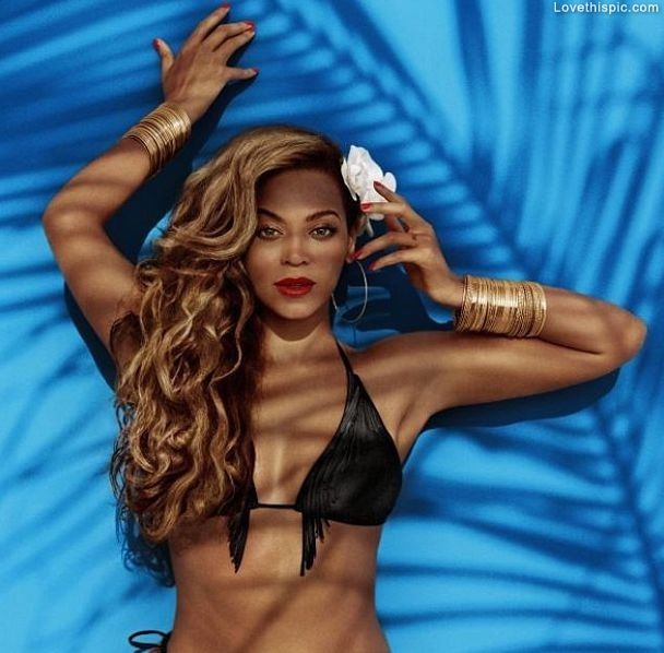 Beyonce models for H She makes sure that they don't edit any of her curves.. I absolutely love her style and her music.