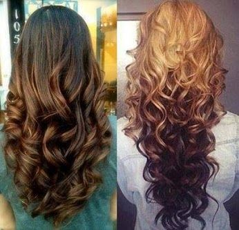 Reverse #ombre hair extensions, look amazing.