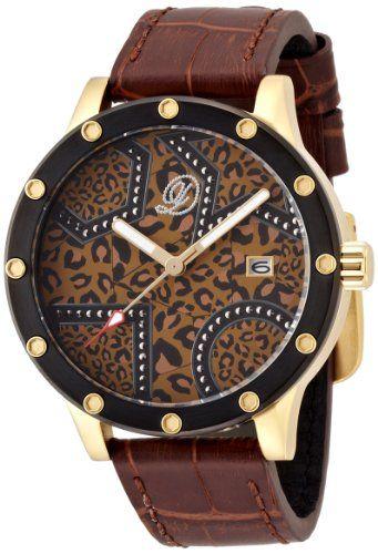 [エンジェルクローバー]Angel Clover 腕時計 ドレスキャンプ ヒョウ柄ブラウン文字盤 カーフ革ベルト デイト 100本限定モデル DC48YBW メンズ