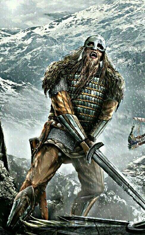 "Swung his sword and spoke thus: ""Chieftains run away. I shall remain alone my life life dearly bought.""  -Tróndur í Gøtu"