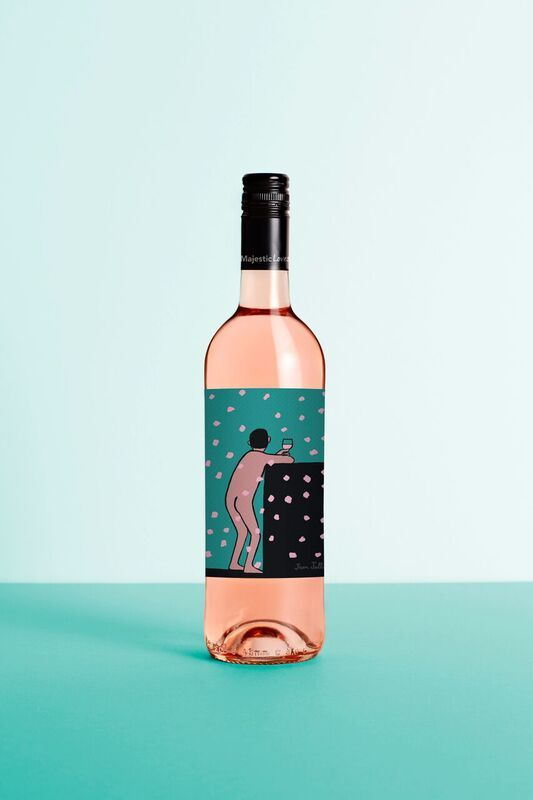 Illustrations that capture the cheeky side of wine. Labels illustrated by Jean Jullien for Majestic Wines