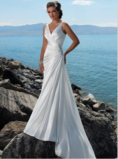 84 best Beach Wedding Dresses images on Pinterest | Short wedding ...