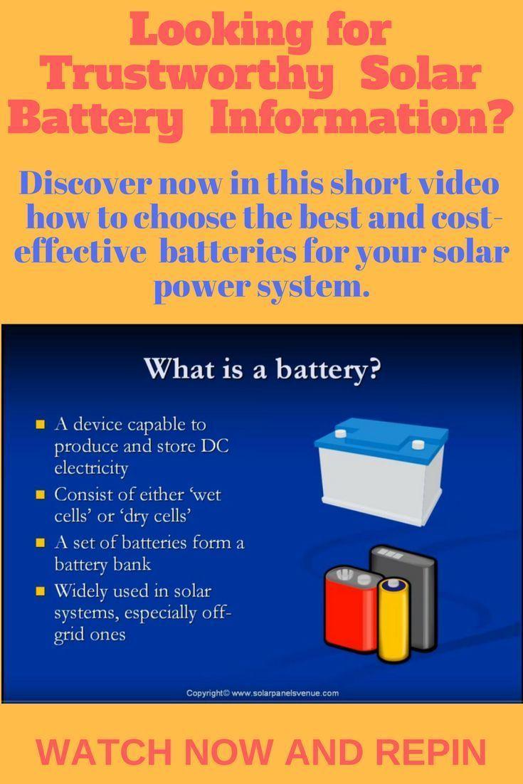 Solar Batteries The Definitive Guide Solar Battery Solar Energy Panels Solar Power